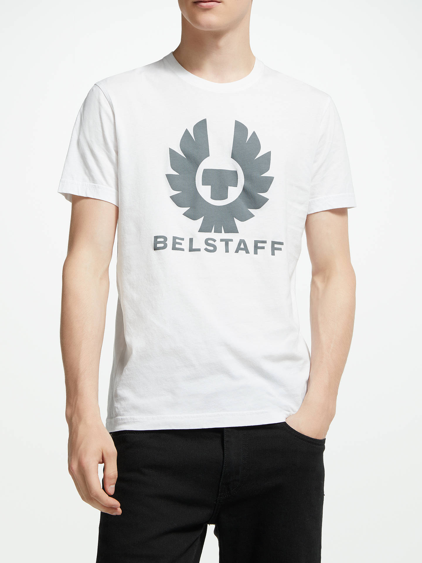 Buy Belstaff Cranstone Short Sleeve Graphic T-Shirt, White, M Online at johnlewis.com