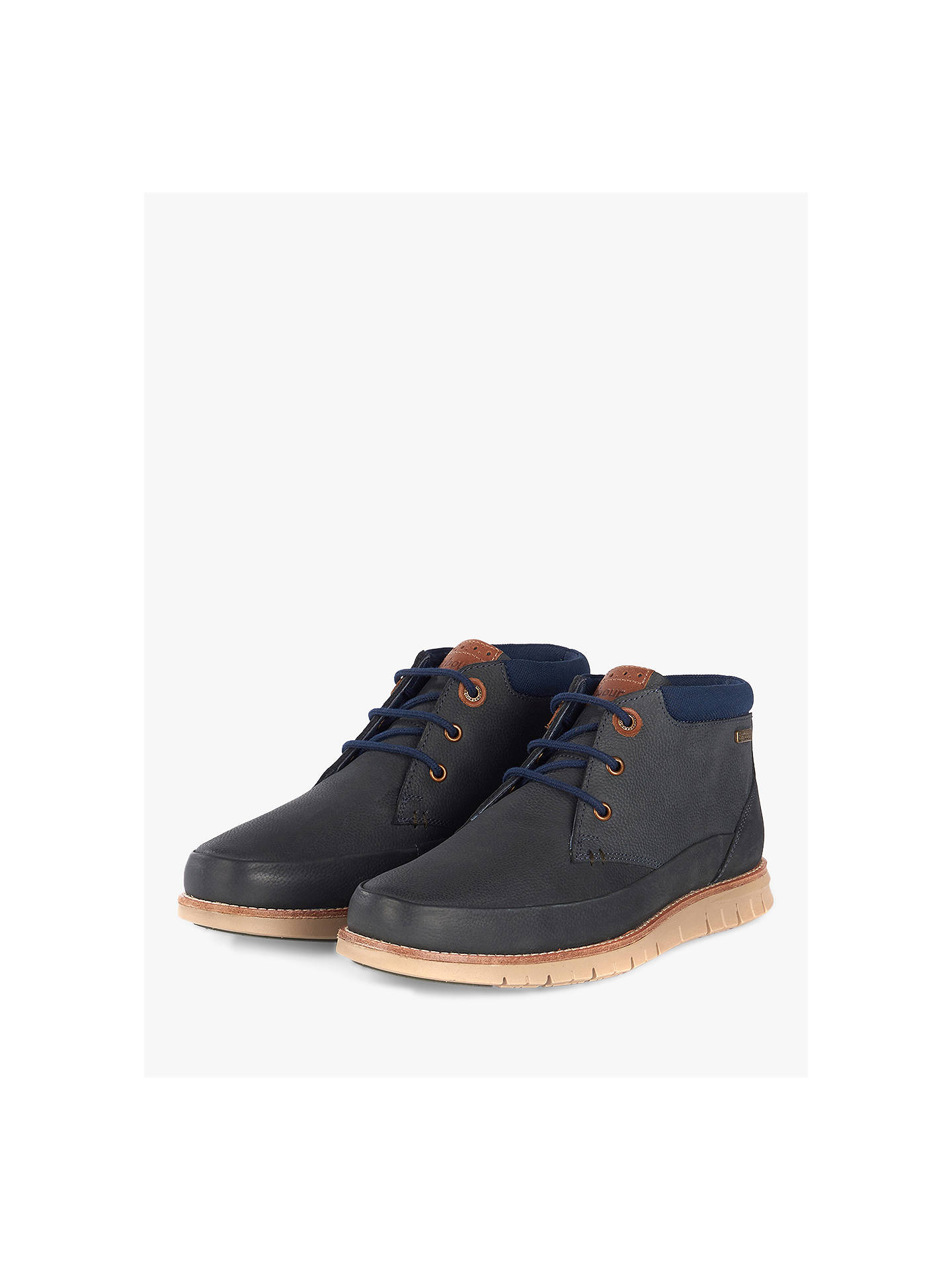Buy Barbour Nelson Mudguard Chukka Boots, Navy, 7 Online at johnlewis.com