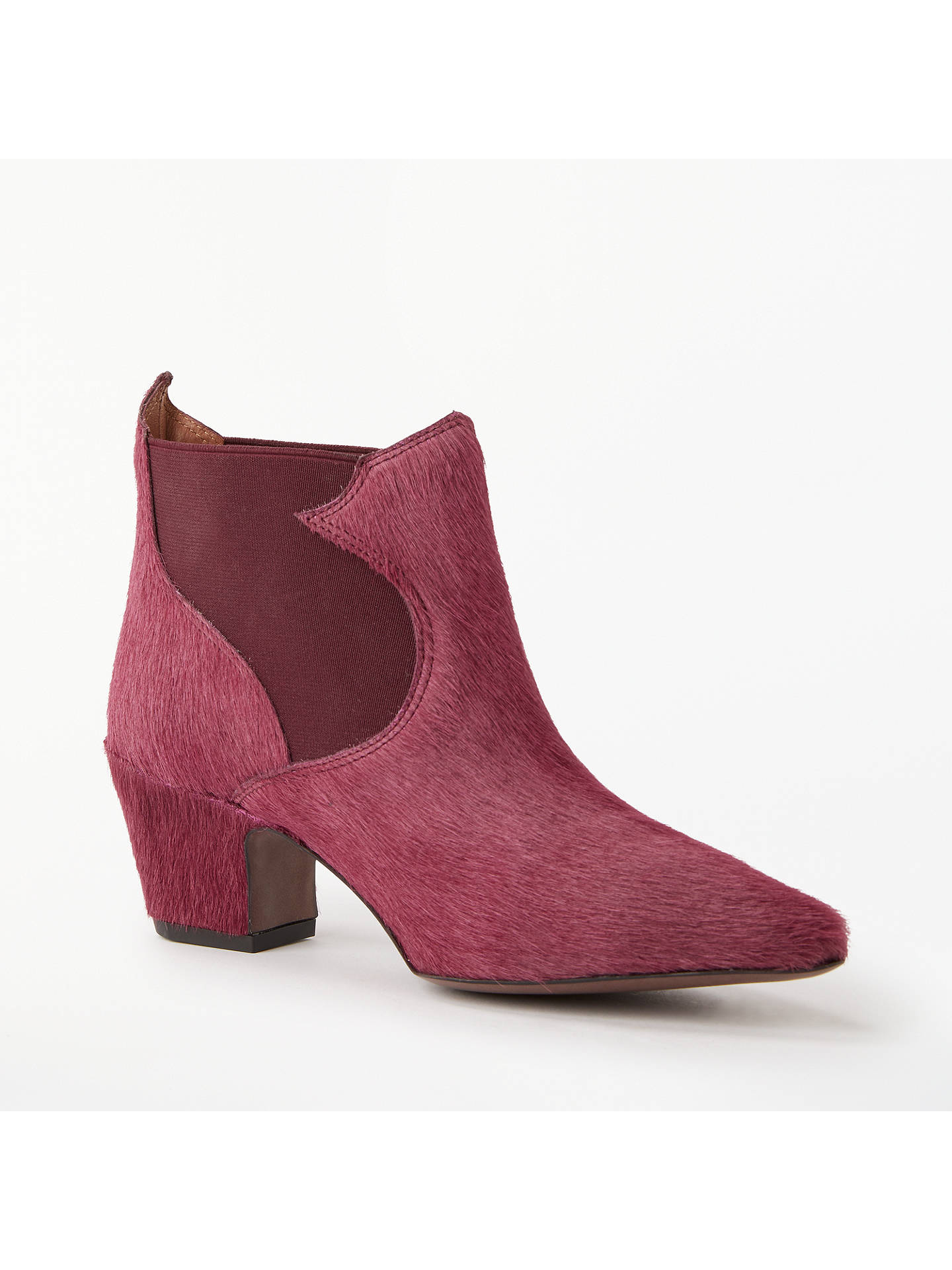 Buy AND/OR Oliviero Block Heel Cowboy Boots, Wine, 4 Online at johnlewis.com
