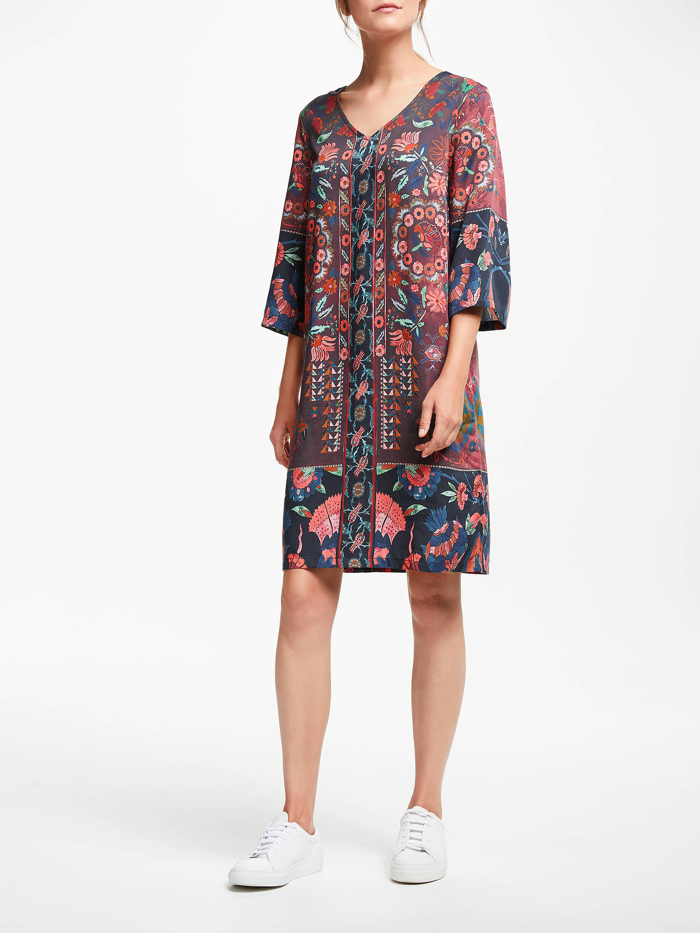 Buy Thought Tapestry Dress, Aubergine, 8 Online at johnlewis.com