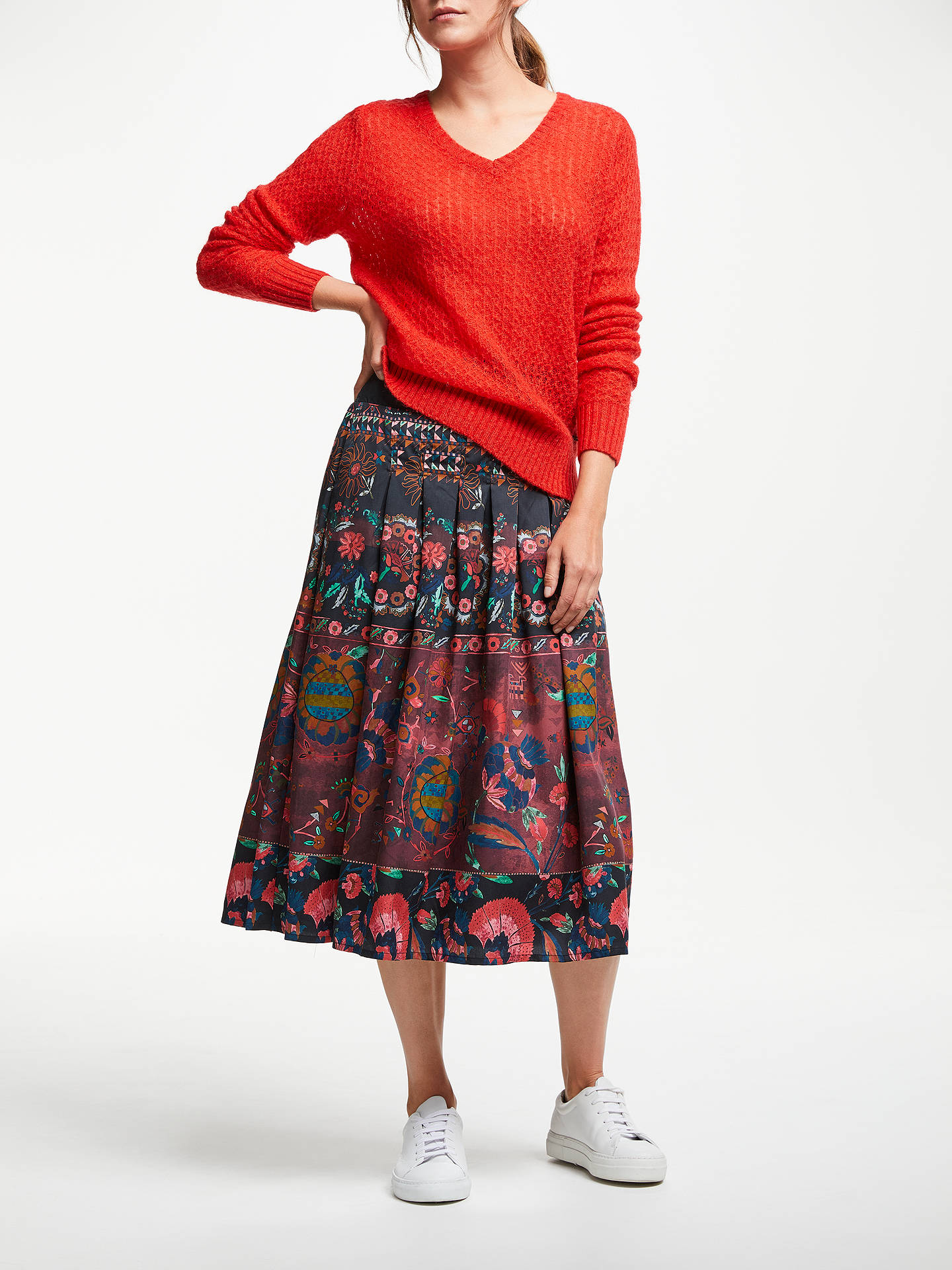 Buy Thought Tapestry Skirt, Aubergine, 8 Online at johnlewis.com