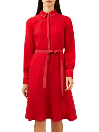 Hobbs Nancy Dress, Deep Red