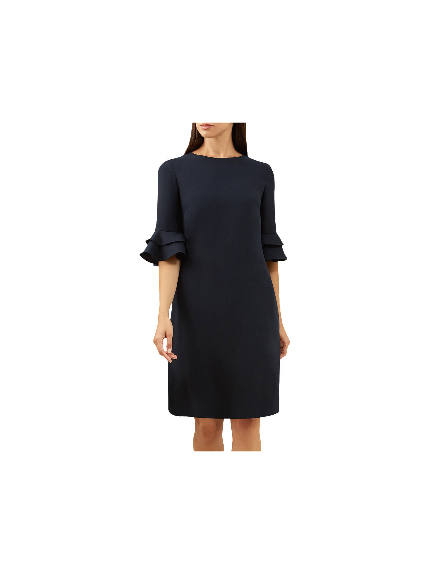 928220b18e912 Buy Hobbs Frances Dress, Navy, 6 Online at johnlewis.com ...