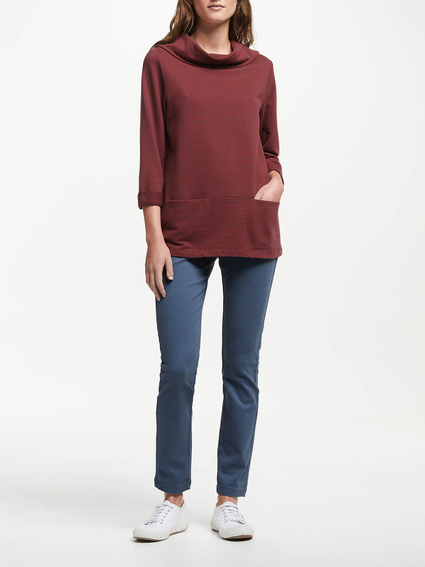 Buy Seasalt Brehat Stripe Sweatshirt, Tumble Cherrywood Night, 16 Online at johnlewis.com