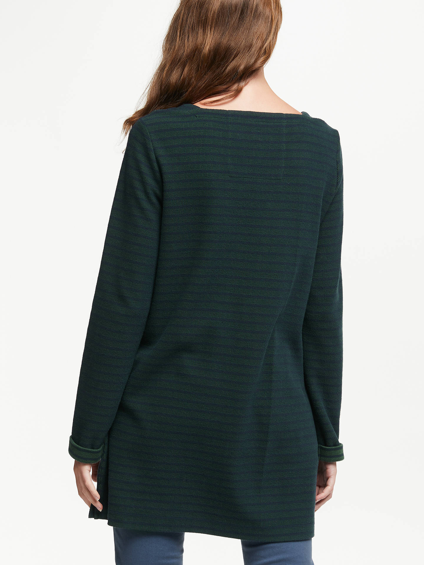 Buy Seasalt Gentle Wave Stripe Tunic Top, Tregurrow Dark Night, 8 Online at johnlewis.com