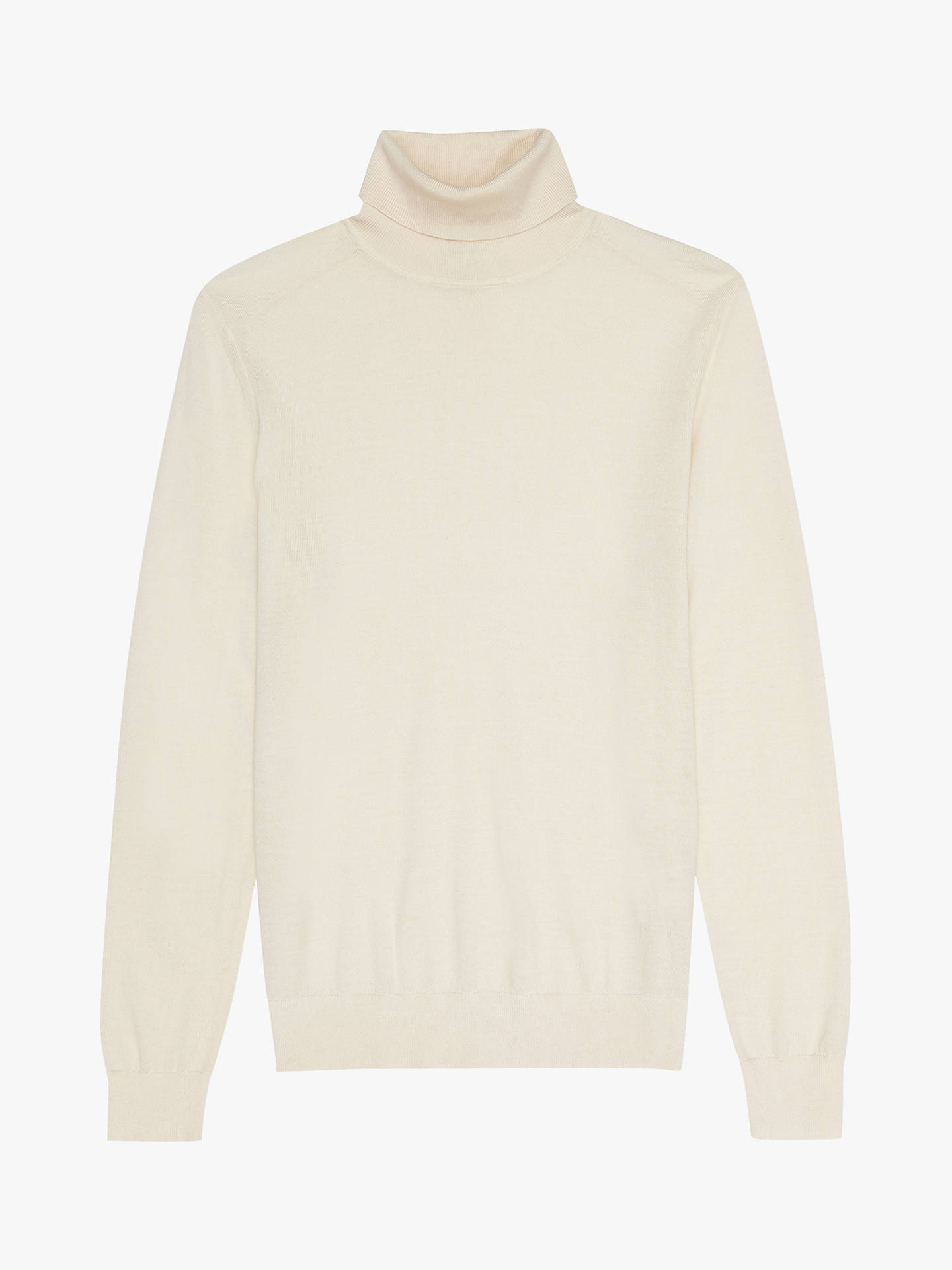 Buy Reiss Caine Roll Neck Sweater, Ecru, S Online at johnlewis.com
