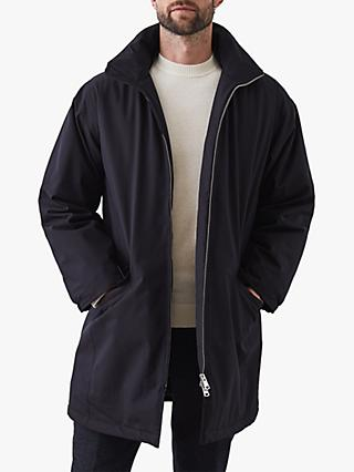 Reiss Alvaro Zip Through Parka, Navy