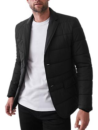 Reiss Vinehall Quilted Jacket, Black
