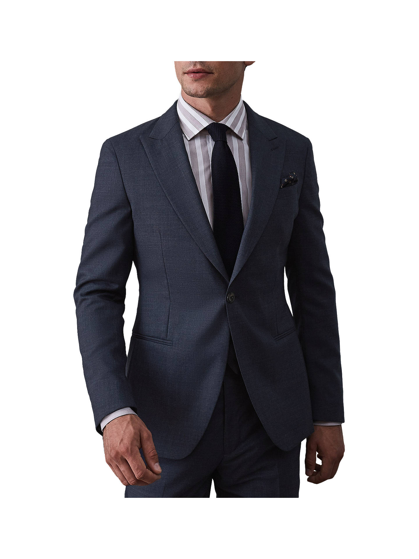 Buy Reiss Terrance Wool Slim Fit Suit Jacket, Airforce Blue, 36R Online at johnlewis.com