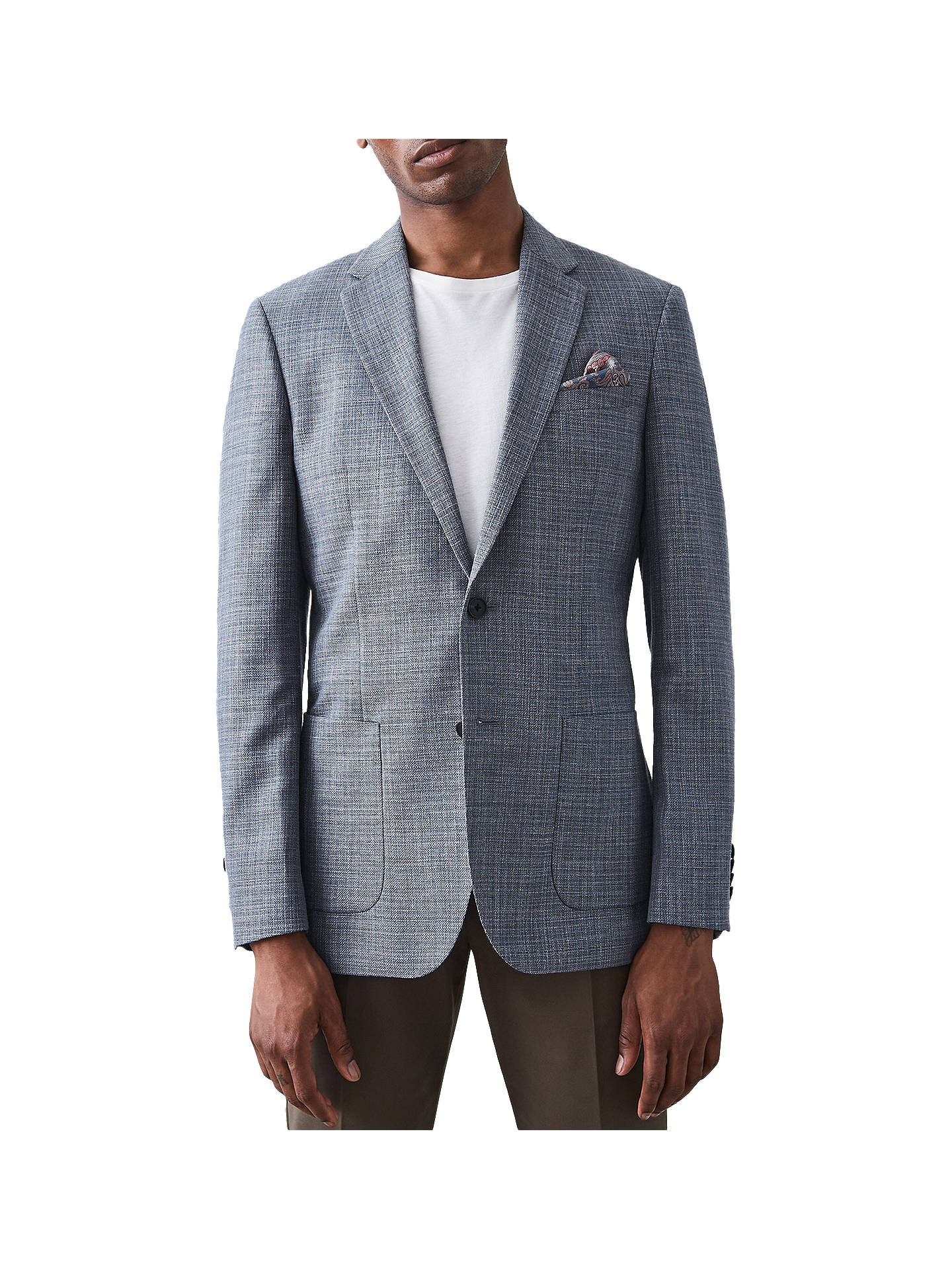Buy Reiss Volt Modern Fit Blazer, Airforce Blue, 36R Online at johnlewis.com