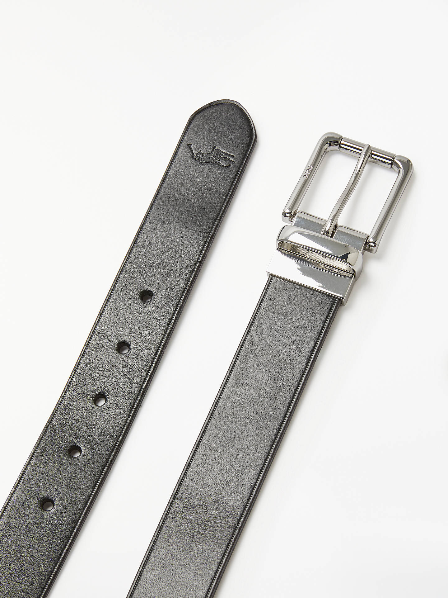 BuyRalph Lauren Casual Leather Belt, Brown/Purple, S Online at johnlewis.com