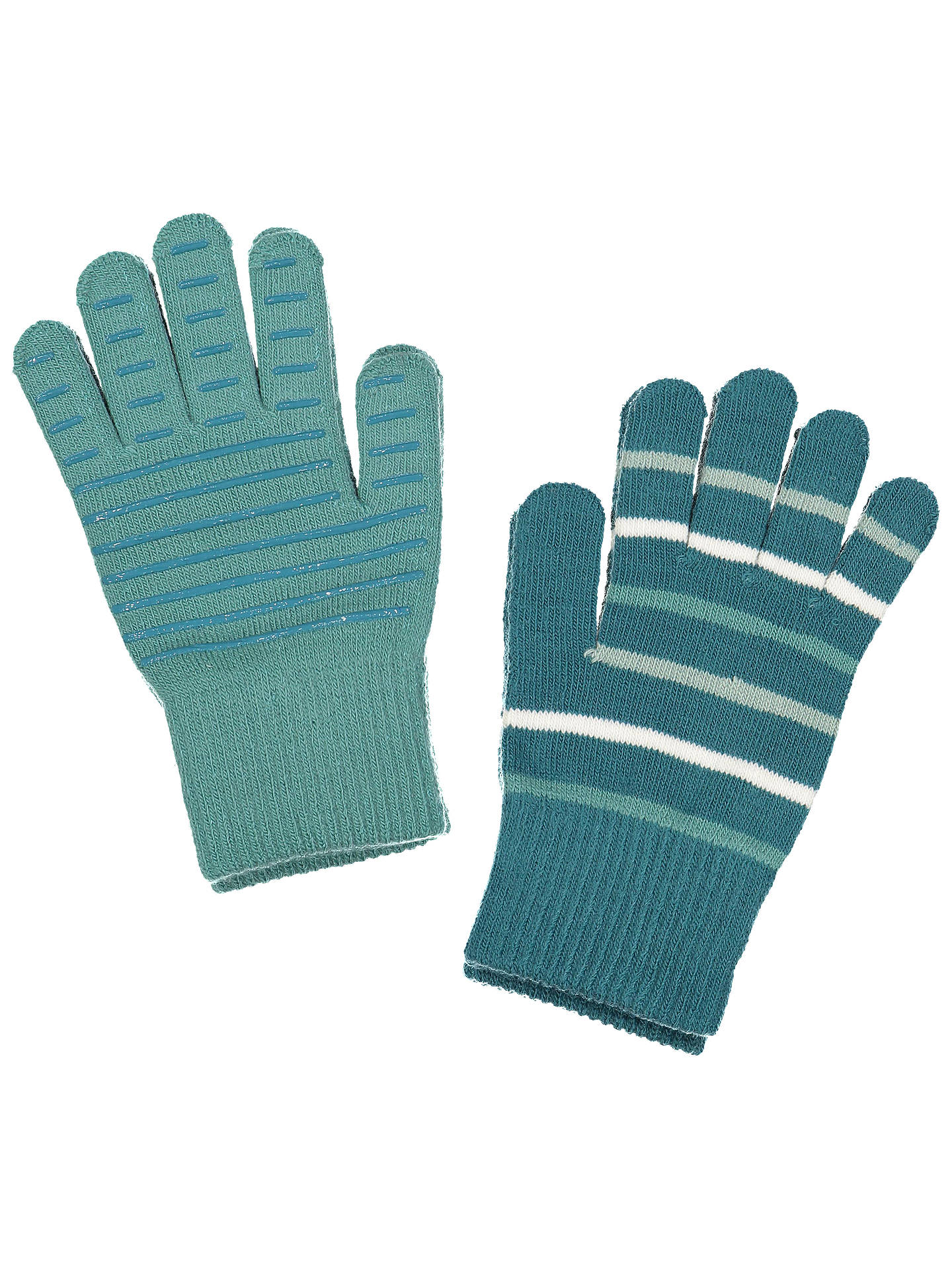 BuyPolarn O. Pyret Children's Striped Gloves, Blue, 4-12 years Online at johnlewis.com