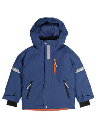 Polarn O. Pyret Children's Waterproof Padded Jacket, Blue