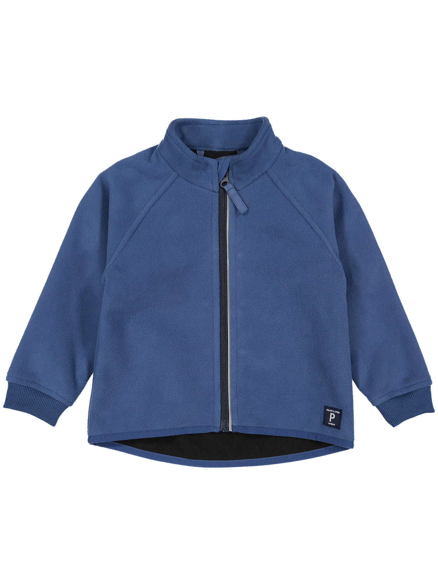 BuyPolarn O. Pyret Baby Waterproof Fleece Jacket, Blue, 6-9 months Online at johnlewis.com