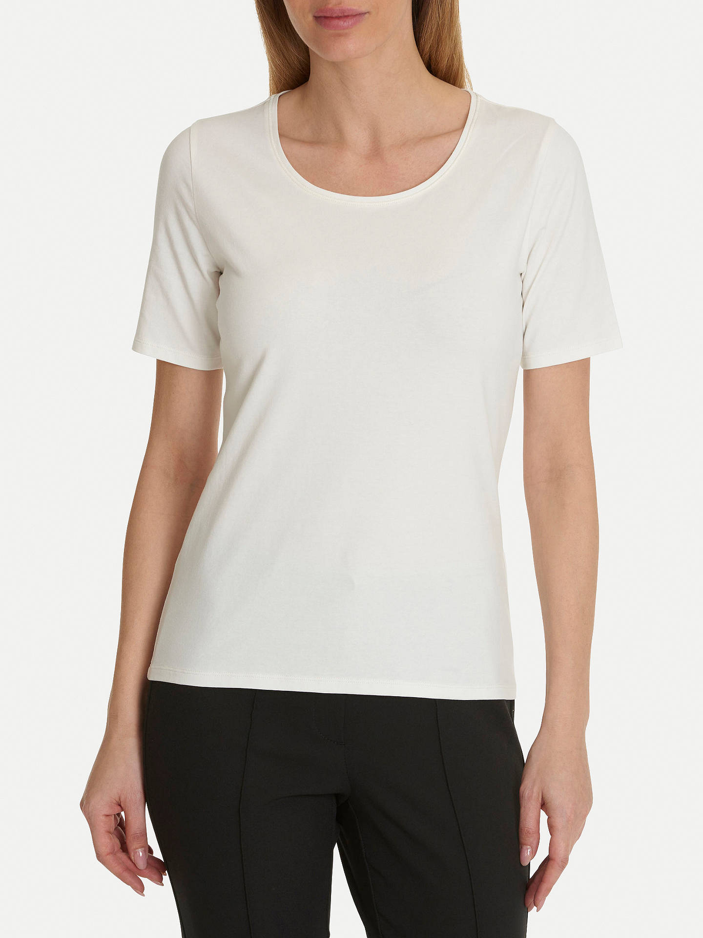 BuyBetty Barclay Short Sleeve T-Shirt, Off White, 20 Online at johnlewis.com