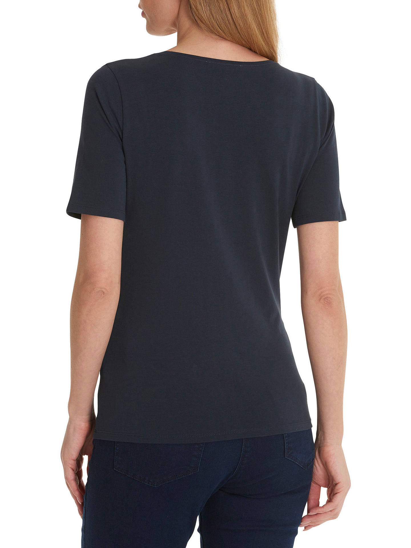 BuyBetty Barclay Short Sleeve T-Shirt, Dark Sky, 10 Online at johnlewis.com