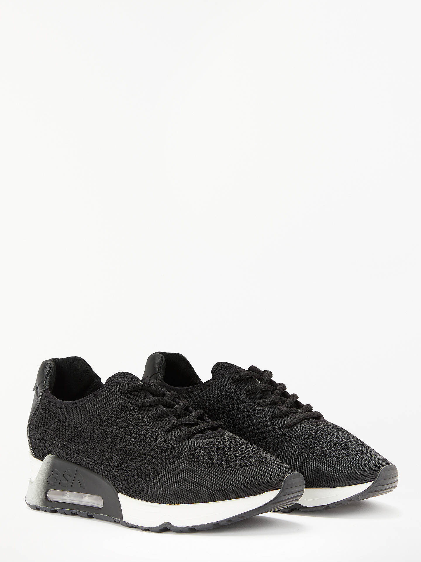 Buy Ash Lucky Lace Up Trainers, Black, 7 Online at johnlewis.com