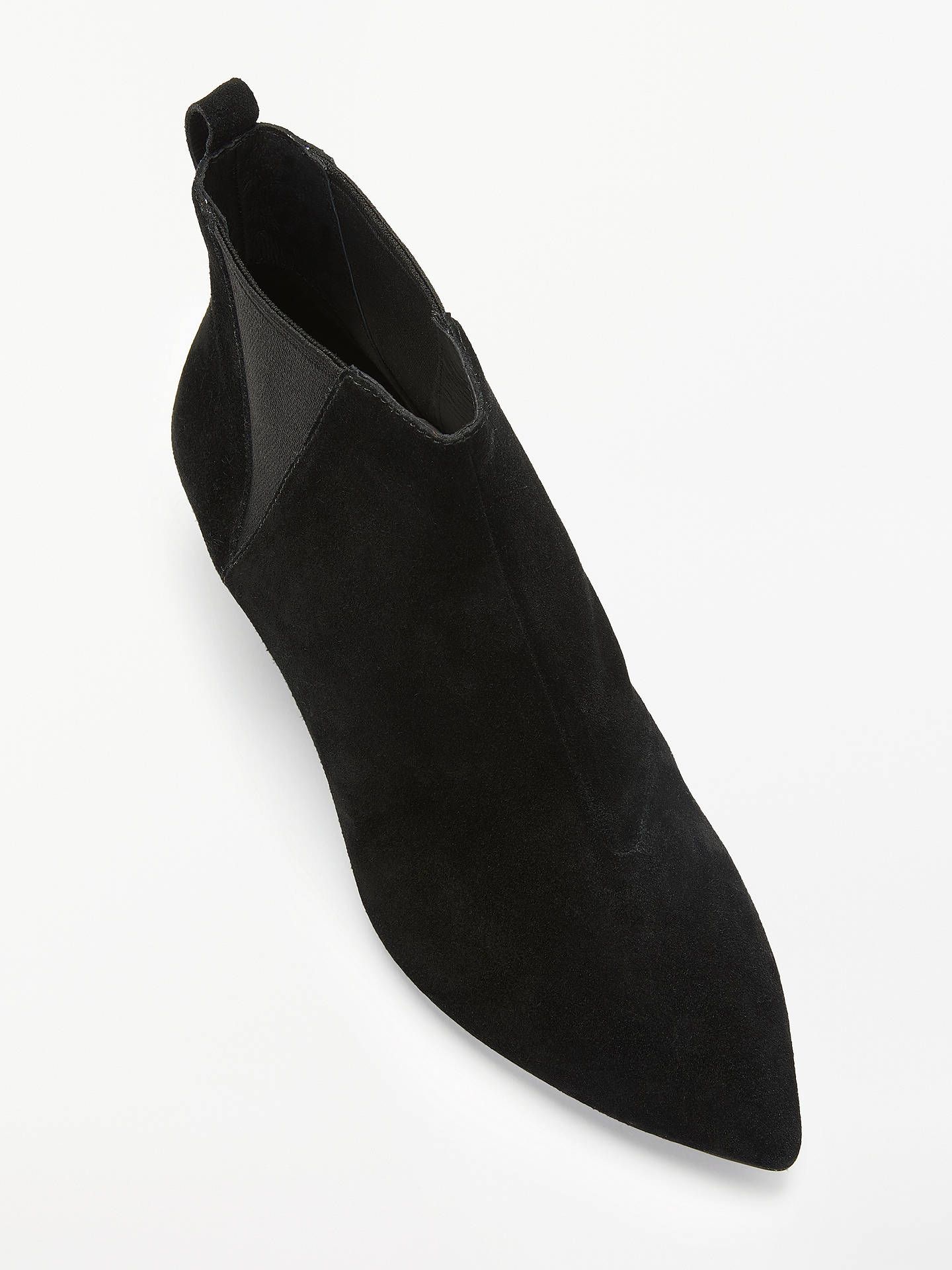 7403b2e6872 Ash Cosmos Cone Heel Ankle Boots, Black Suede at John Lewis & Partners