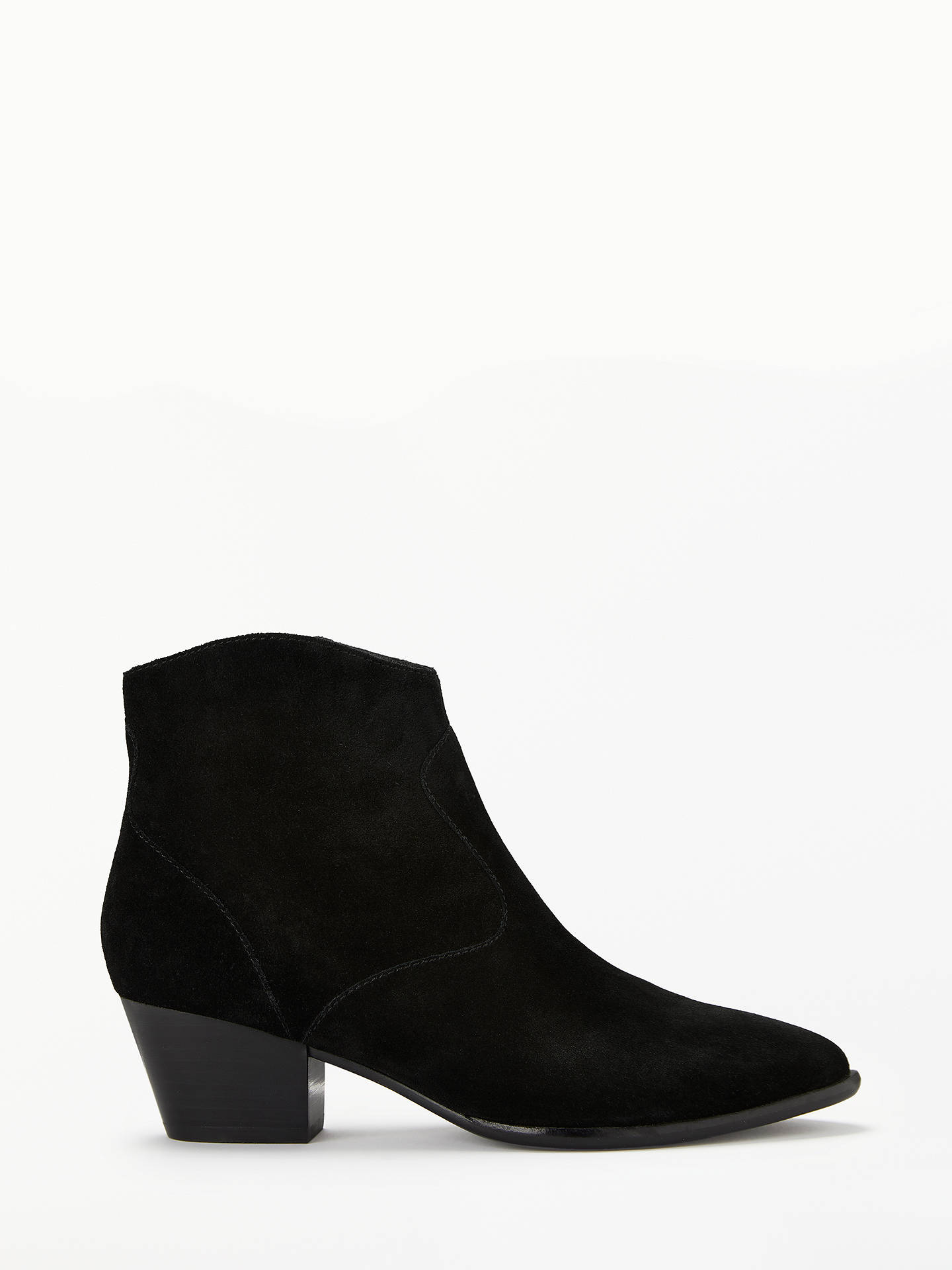 BuyAsh Heidi Block Heel Ankle Boots, Black Leather, 6 Online at johnlewis.com