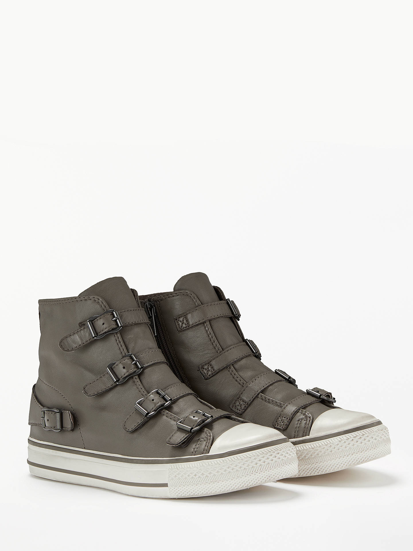 Buy Ash Virgin Hi-Top Trainers, Moonstone Leather, 4 Online at johnlewis.com