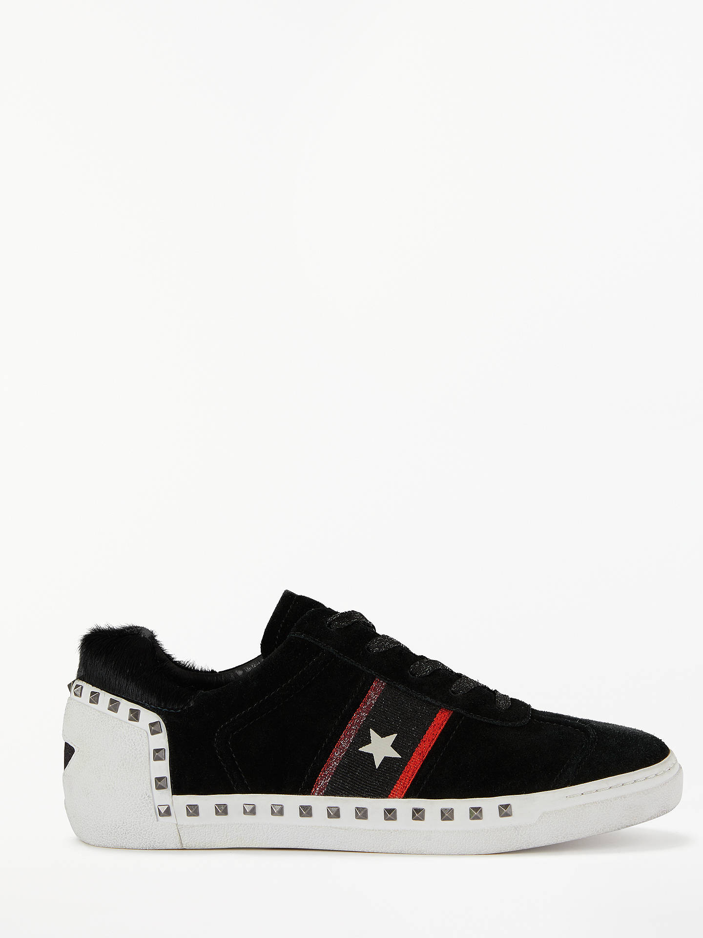 BuyAsh Neo Lace Up Trainers, Black Leather, 6 Online at johnlewis.com