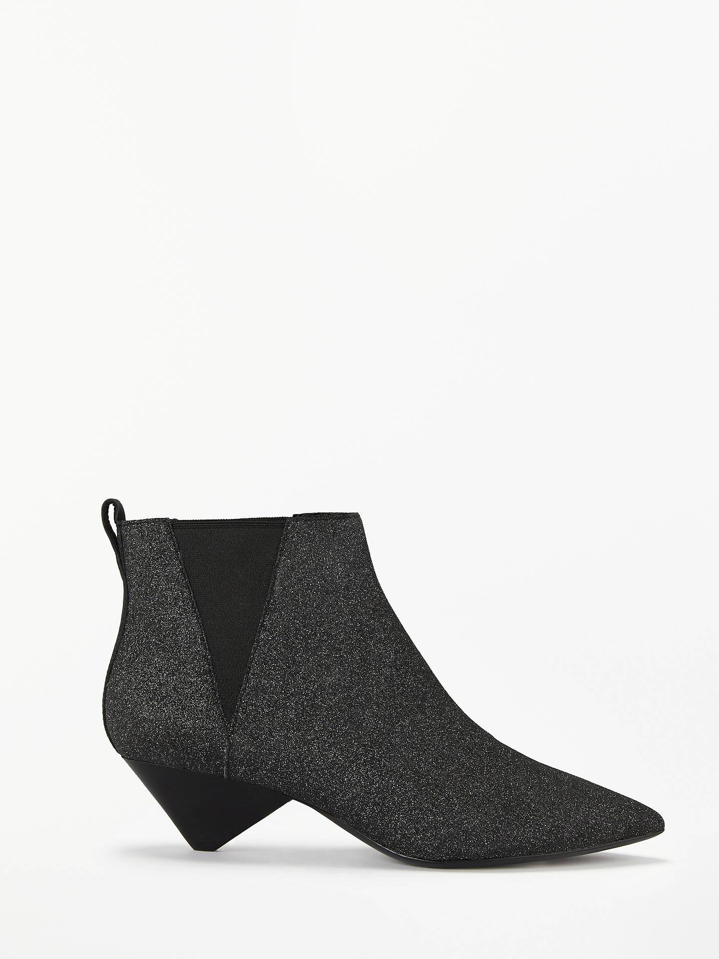 e56f32e6cb6f Buy Ash Cosmos Glitter Cone Heel Ankle Boots
