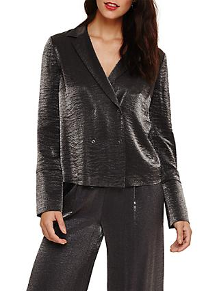 Phase Eight Mkenz Metal Tux Jacket, Gunmetal
