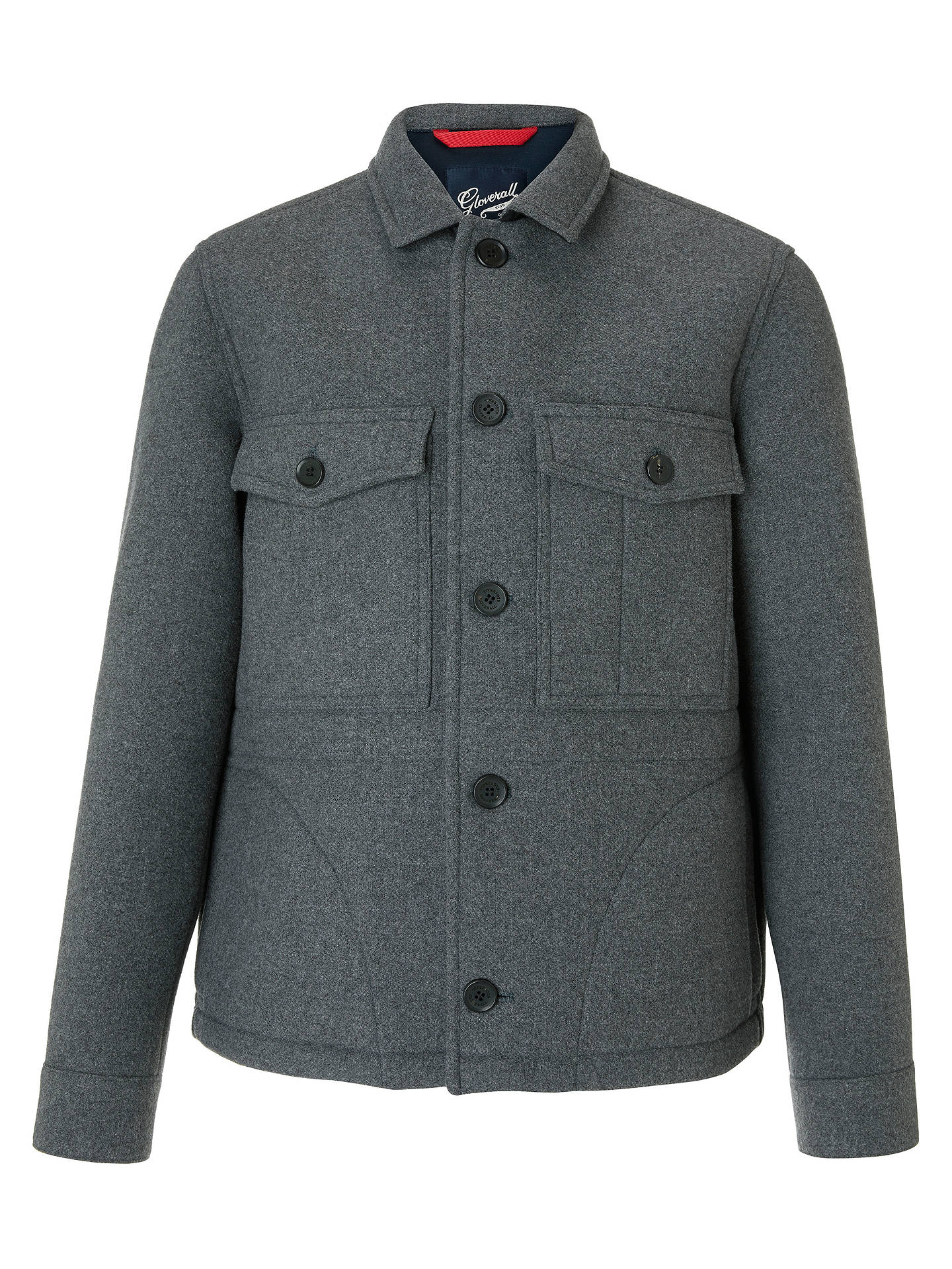 BuyGloverall for John Lewis & Partners Workwear Jacket, Grey, S Online at johnlewis.com