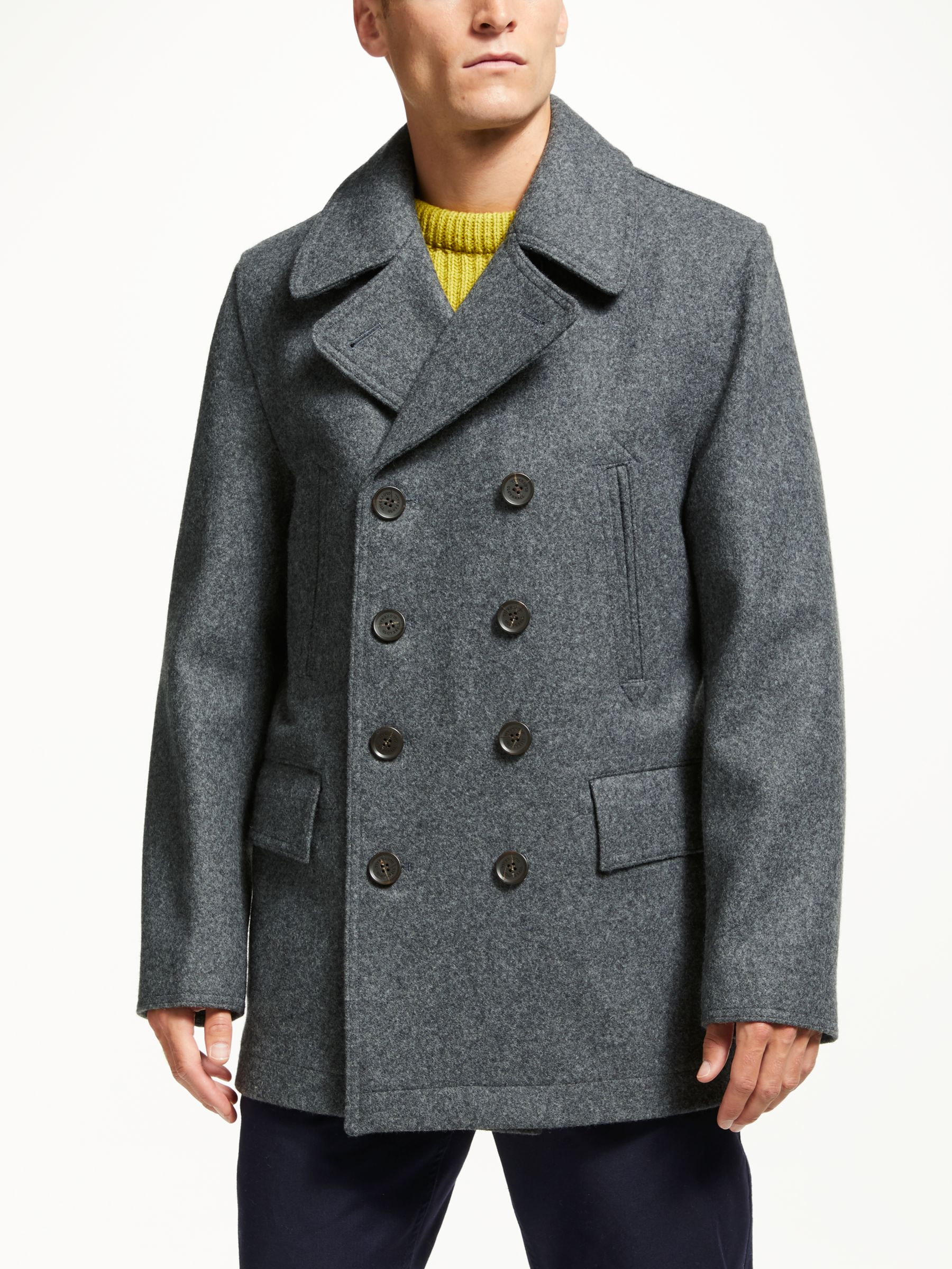 61dbb1599 Gloverall for John Lewis & Partners Churchill Reefer Coat, Grey
