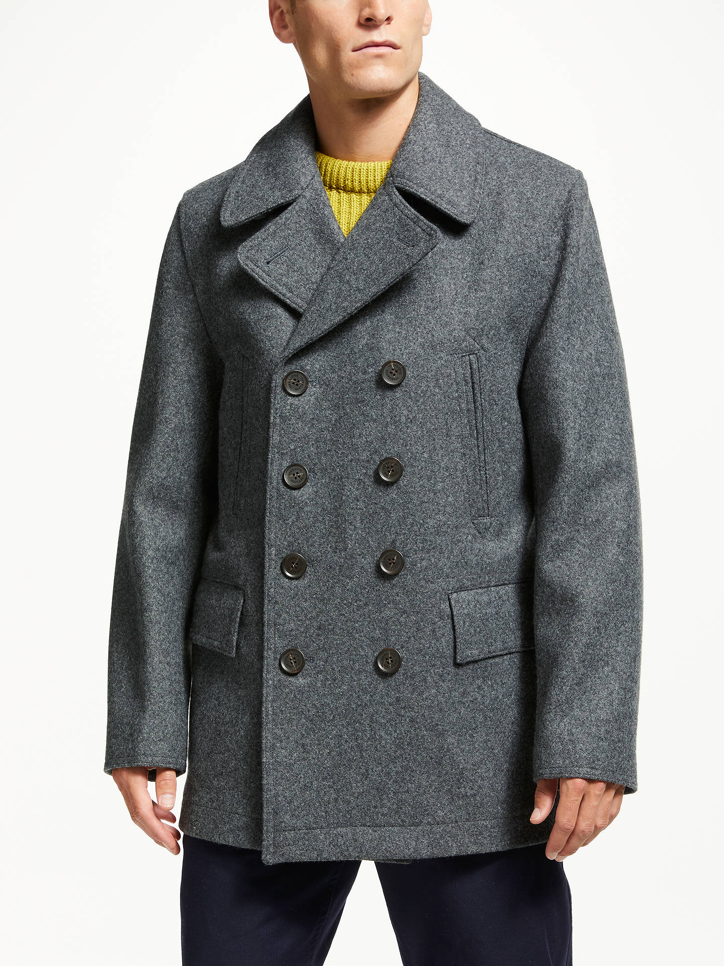 495359ac9 Gloverall for John Lewis & Partners Churchill Reefer Coat, Grey