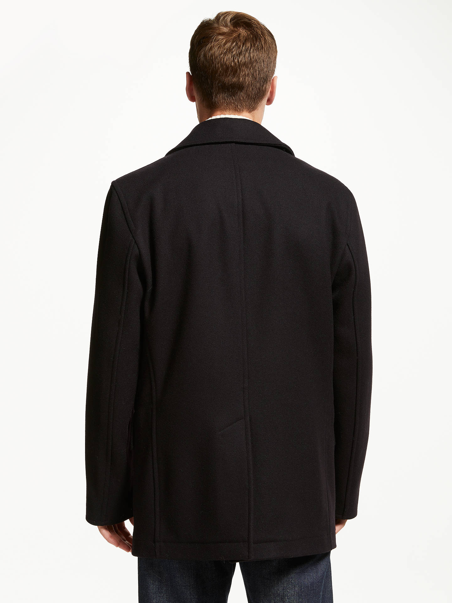 BuyGloverall for John Lewis & Partners Churchill Reefer Coat, Navy, XXL Online at johnlewis.com