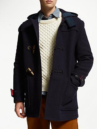 Gloverall for John Lewis & Partners Mid Monty Duffle Coat, Navy