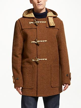 Gloverall for John Lewis & Partners Mid Monty Duffle Coat, Rust