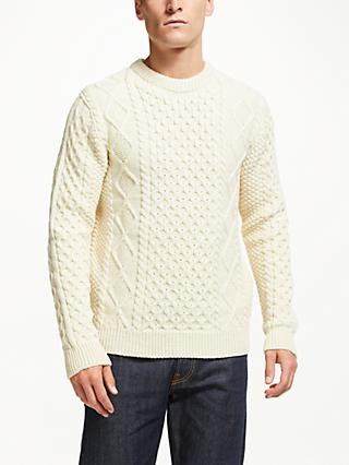 Gloverall for John Lewis & Partners Aran Cable Knit Jumper