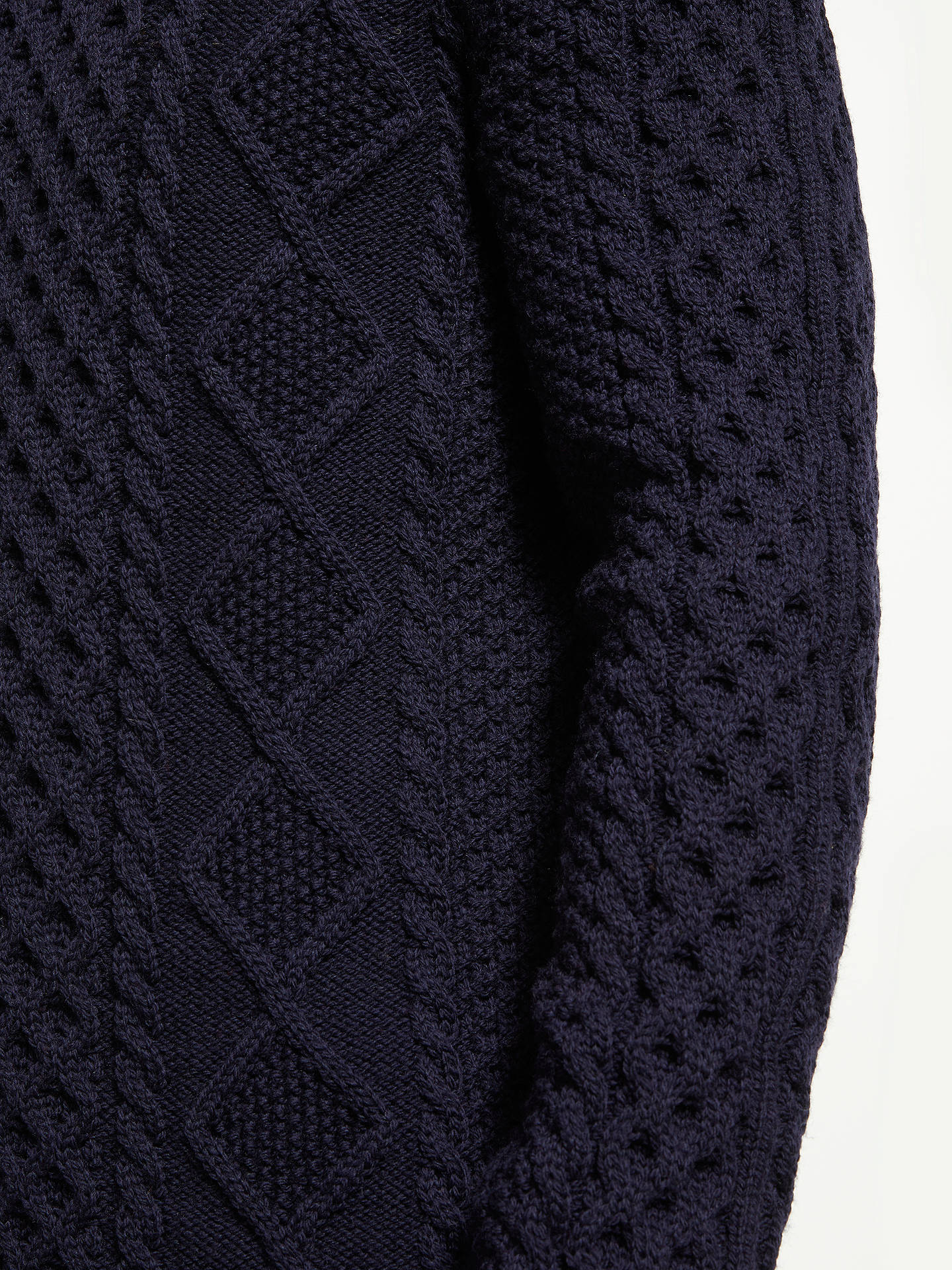 cfd5303c540 Gloverall for John Lewis & Partners Aran Cable Knit Jumper at John ...
