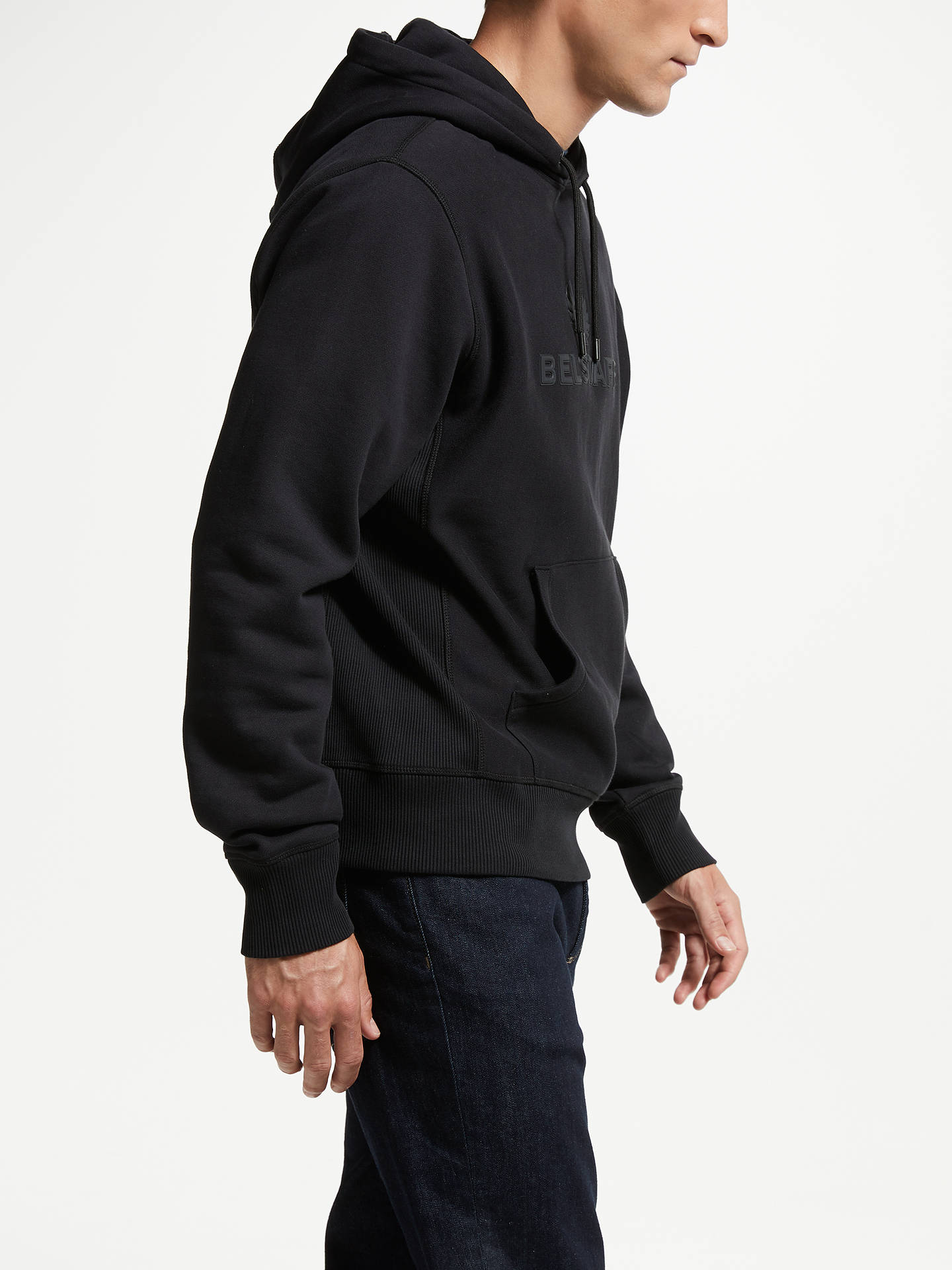 BuyBelstaff Northview Hooded Jacket, Black, XL Online at johnlewis.com