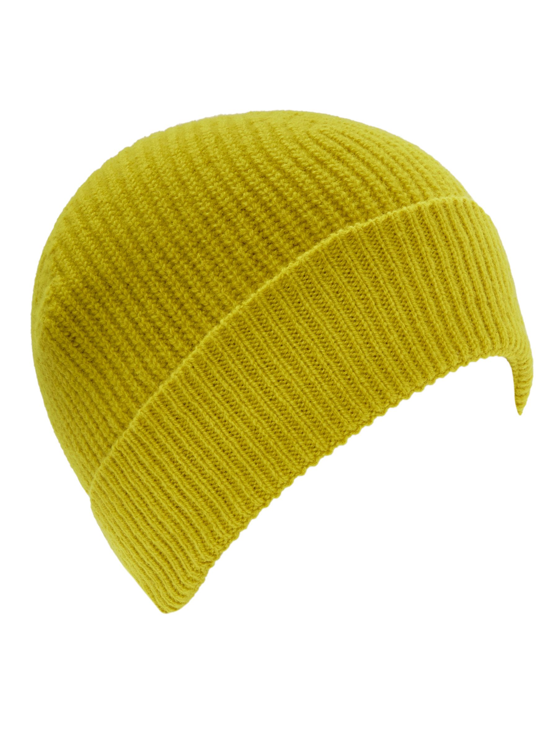 05d4eaaa Gloverall for John Lewis & Partners Beanie Hat, One Size, Yellow