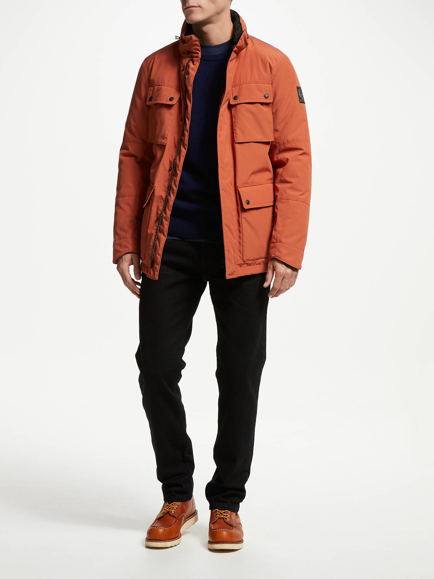 Buy Belstaff Explorer Jacket, Bright Tamarind, 48 Online at johnlewis.com