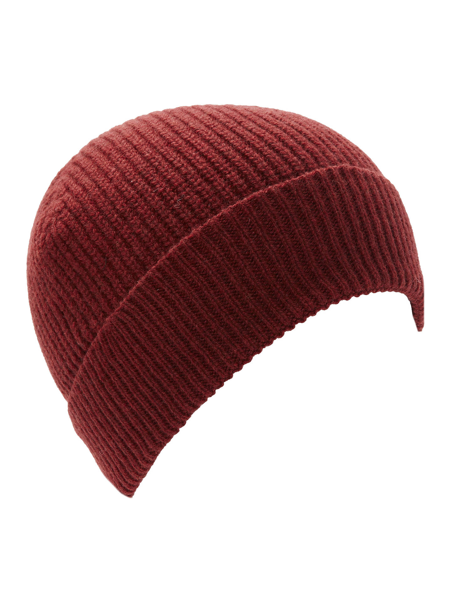 Buy Gloverall for John Lewis & Partners Beanie Hat, One Size, Otono Red Online at johnlewis.com