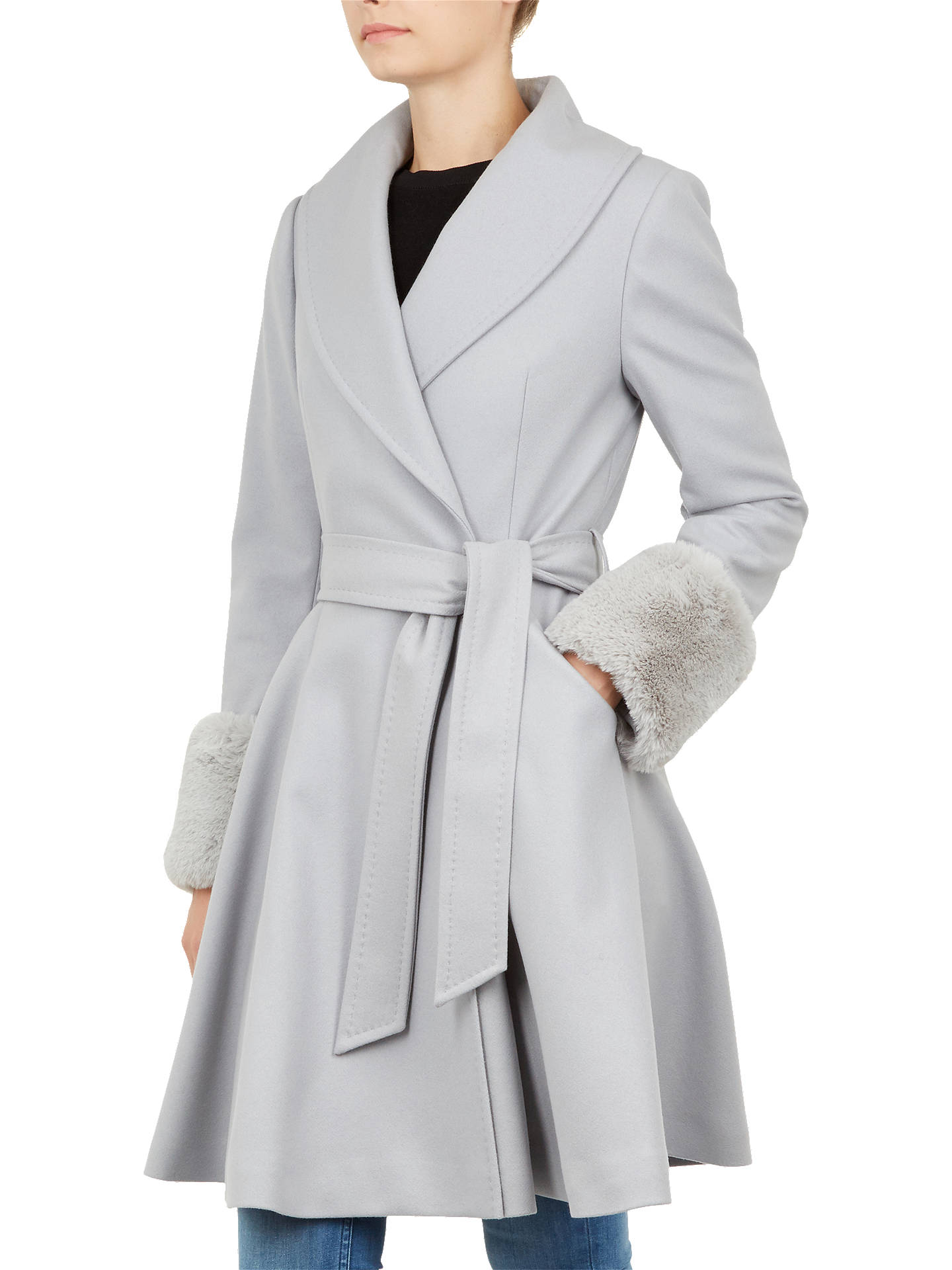 6ec26635b Buy Ted Baker Zurii Faux Fur Cuff Coat