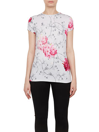 Buy Ted Baker Miriall Babylon Fitted T-Shirt, Grey, 8 Online at johnlewis.com