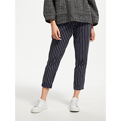 People Tree Corin Pinstripe Trousers, Dark Navy