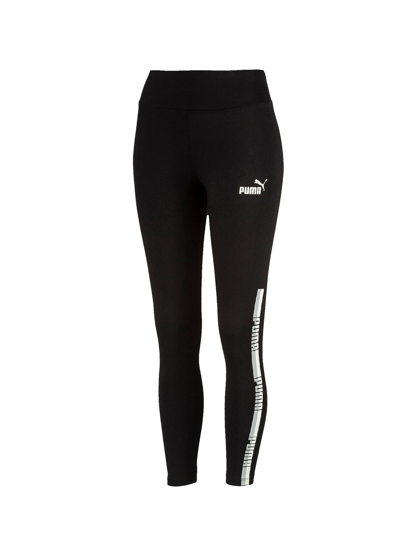 Buy PUMA Tape Training Leggings, Cotton Black, XS Online at johnlewis.com