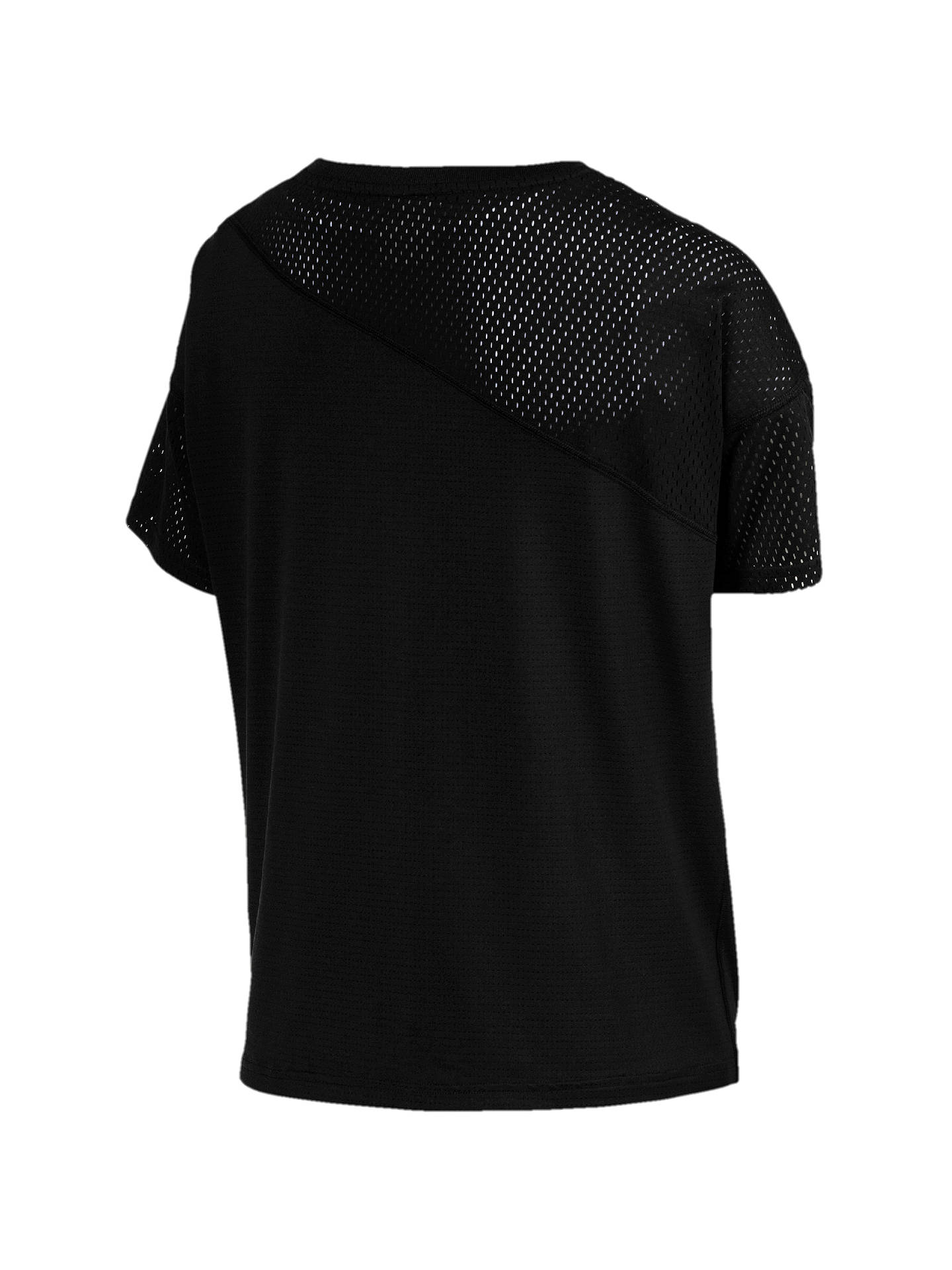 BuyPUMA Blocked Mesh Training T-Shirt, Black, XS Online at johnlewis.com