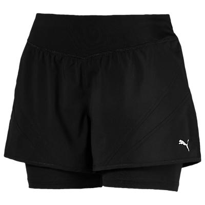 PUMA Core Run 2-in-1 3 Running Shorts, Black