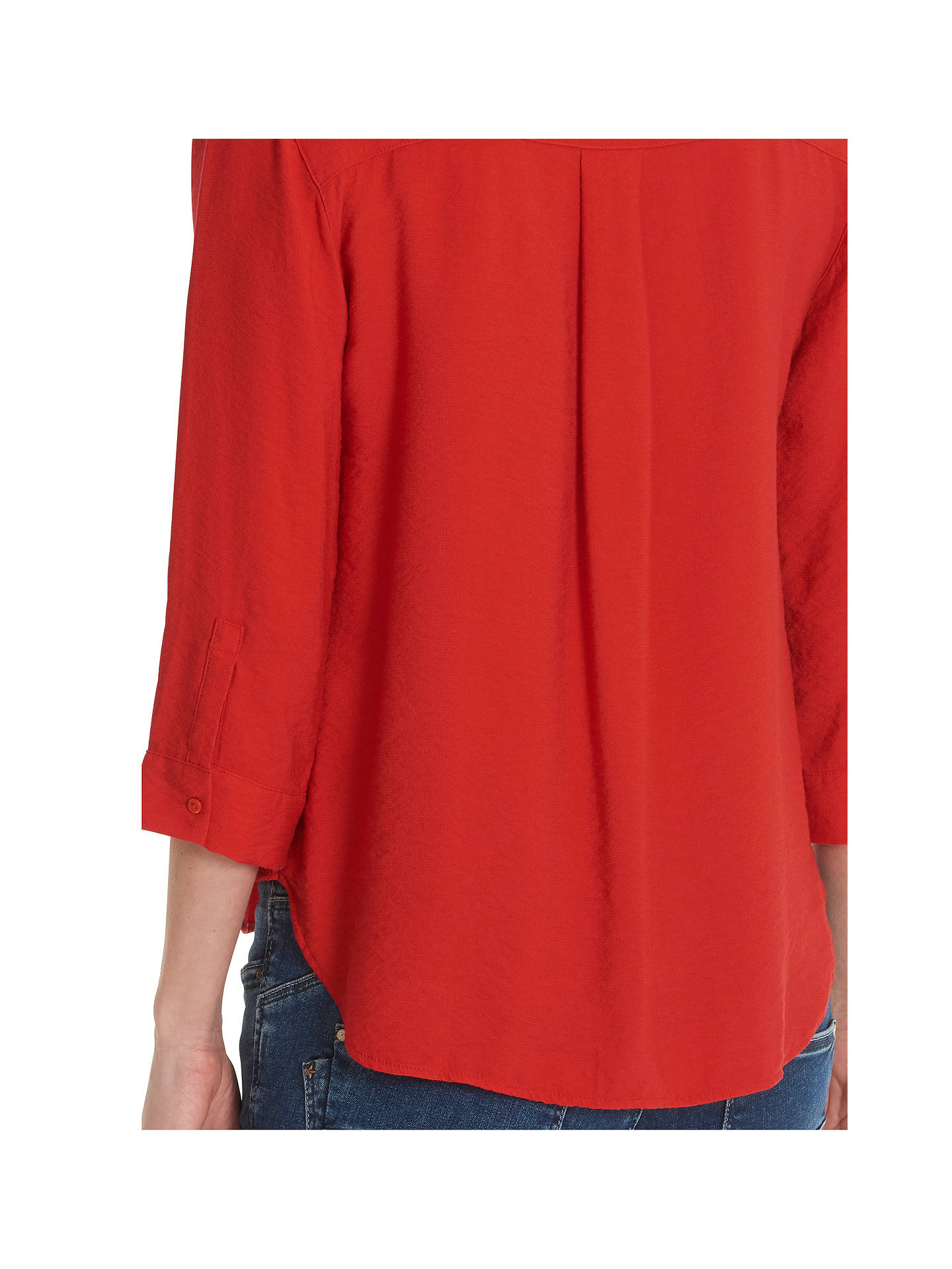 Buy Betty Barclay Textured Blouse, Tomato, 10 Online at johnlewis.com