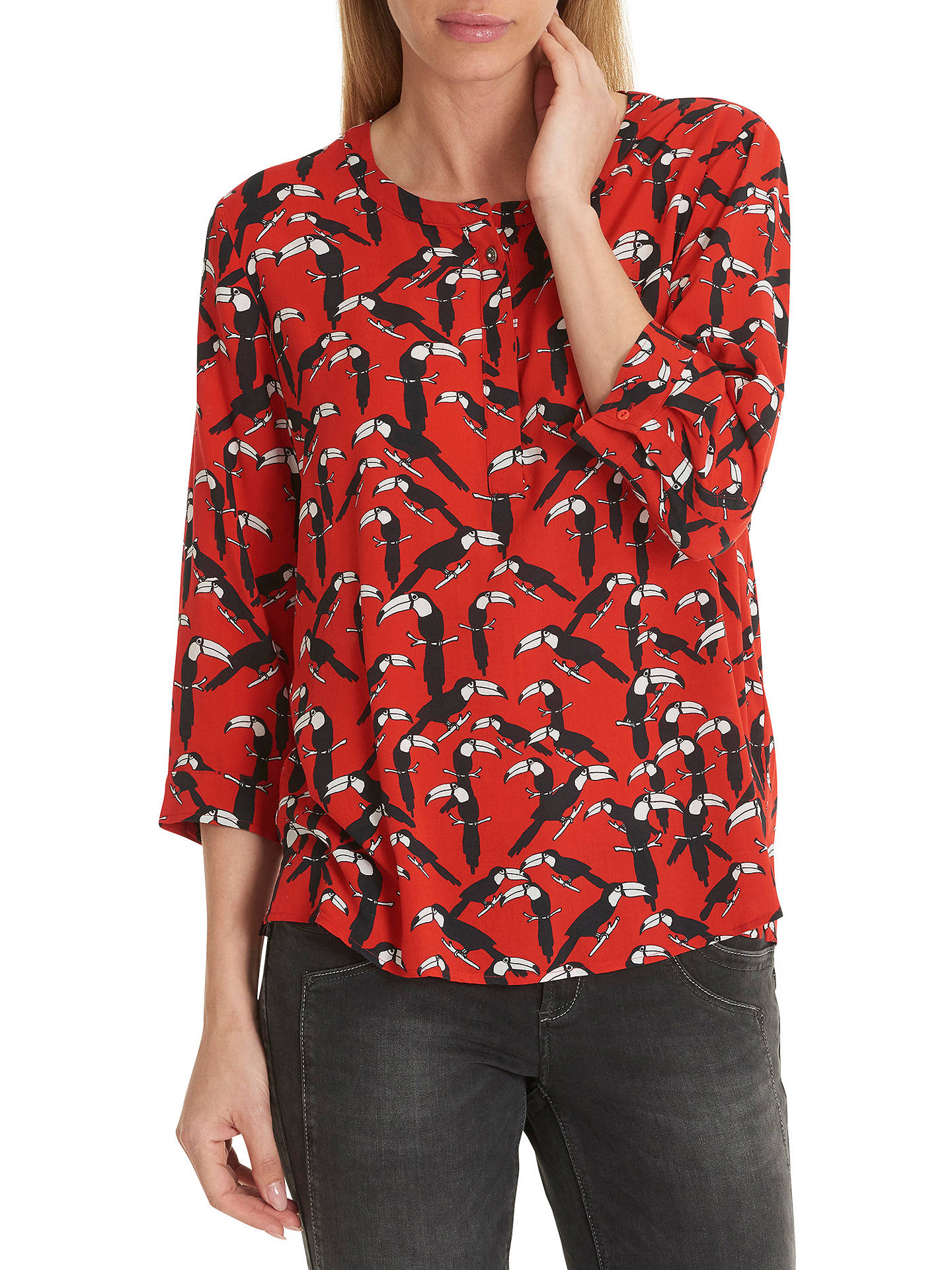 BuyBetty Barclay Toucan Print Blouse, Red/Black, 10 Online at johnlewis.com