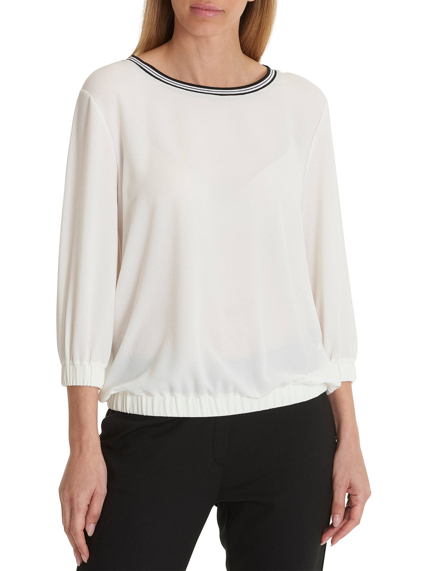 Buy Betty Barclay Crepe Jersey Top, Star White, 10 Online at johnlewis.com