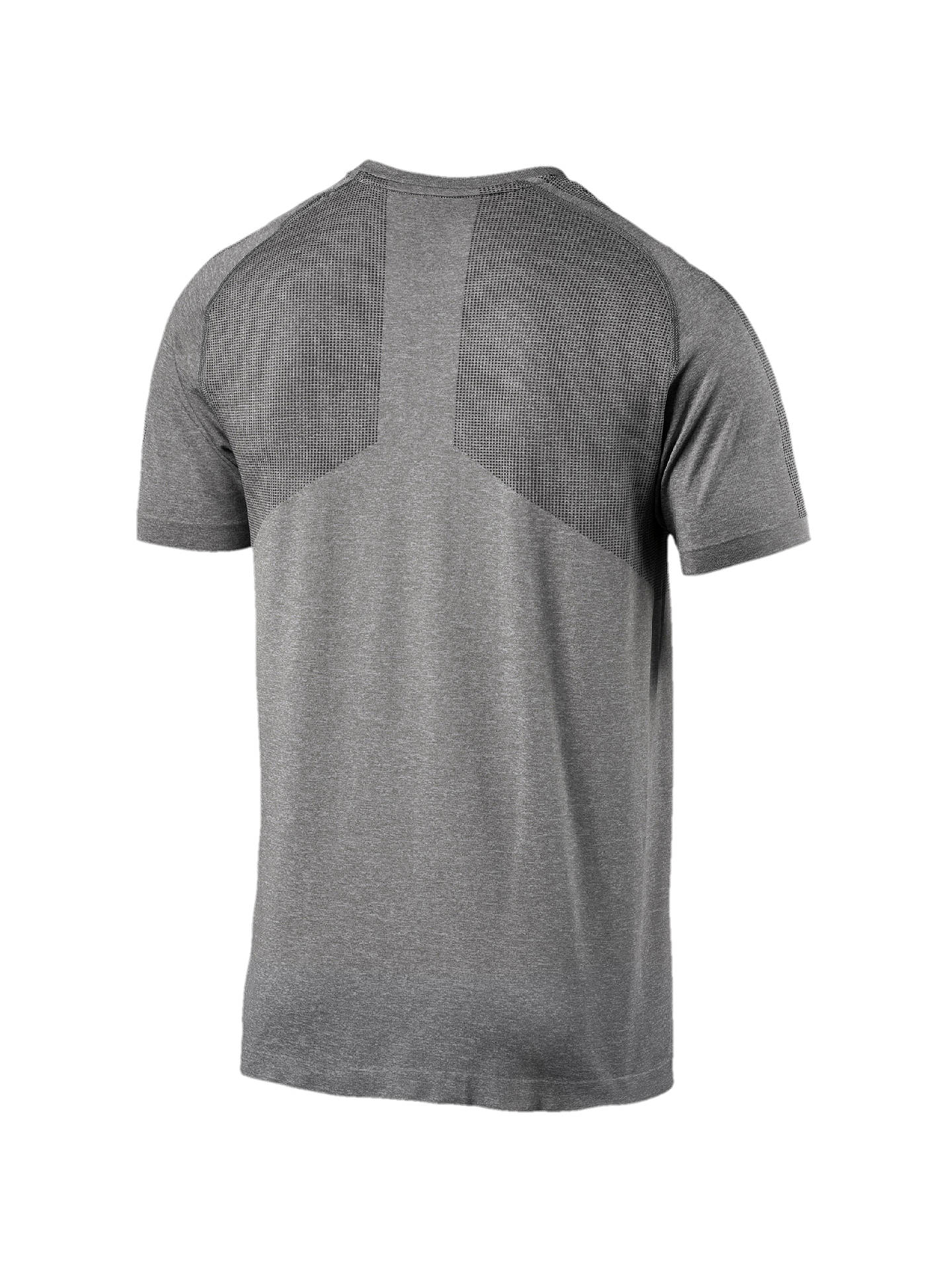 BuyPUMA evoKNIT Basic Training T-Shirt, Medium Grey Heather, S Online at johnlewis.com