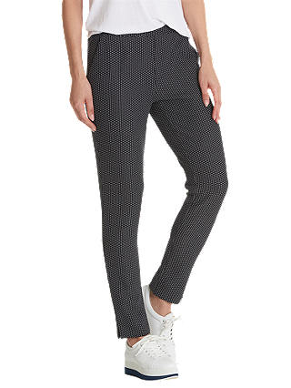 Buy Betty Barclay Pull On Trousers, Blue/White, 8 Online at johnlewis.com